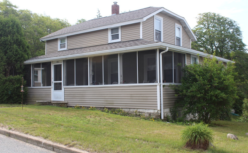 Our new listing: Wareham home with waterview, private beach and buildable lot